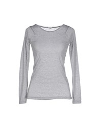 Gold Case Topwear T Shirts Women Light Grey