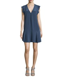 Joie Almarie Silk Sleeveless Shift Dress Dark Navy