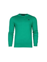 Raging Bull Crew Neck Cotton Cashmere Sweater Green