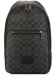 Coach Monogram Backpack Grey