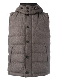Corneliani Sleeveless Padded Jacket Brown