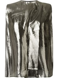Haider Ackermann Metallic Effect Top