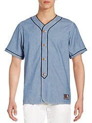Prps Regular Fit Kobe Baseball Shirt Indigo