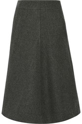 Christophe Lemaire Melton Wool Midi Skirt