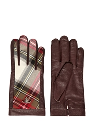 Vivienne Westwood Nappa Leather And Wool Flannel Gloves Brown