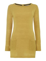 Lily And Me Essential Knitted Tunic Yellow