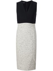 Narciso Rodriguez V Neck Fitted Dress Black