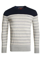 Superdry Drop Breton Crew Jumper Light Grey