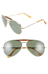 Randolph Engineering 'Sportsman' 61Mm Polarized Aviator Sunglasses Gold Polarized