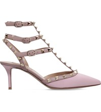Valentino Rockstud 65 Patent Leather Courts Pale Pink