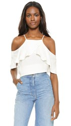 Ella Moss Stella Cold Shoulder Blouse White