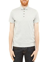 Ted Baker Tomaso Spotted Regular Fit Polo Light Gray