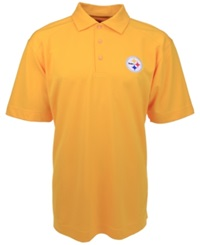 Cutter And Buck Men's Short Sleeve Pittsburgh Steelers Polo Gold
