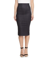 Stella Mccartney High Waist Knee Length Denim Skirt