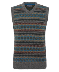 Tommy Hilfiger Norman Fairisle Vest Grey