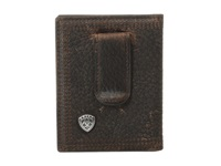 Ariat Shield Bi Fold Money Clip Brown Rowdy Wallet Handbags Gray