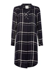 Part Two Casual Yet Stylish Shirt Dress Navy