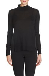 Women's 1.State Mock Turtleneck Sweater Rich Black