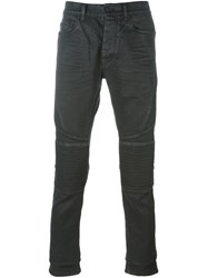 Marcelo Burlon County Of Milan Slim Fit Biker Jeans Black