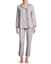 Bedhead Leopard Print Classic Pajama Set Ivory Gray Mighty Jungle