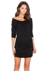 Bobi Light Weight Jersey Raglan Dress Black