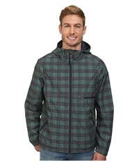 Prana Grayson Jacket True Teal Plaid Men's Coat Green