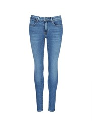 Alexander Wang 'Whip' Washed Slim Fit Jeans Blue