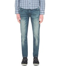 Hugo Boss Extra Slim Fit Tapered Stretch Denim Jeans Bright Blue