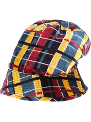 Jean Paul Gaultier Vintage Checked Bucket Hat Multicolour