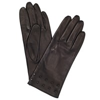 John Lewis Studded Silk Lined Gloves Black