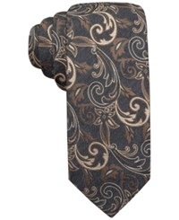 Alfani Spectrum Neptune Vine Slim Tie Only At Macy's Taupe