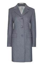 James Lakeland Tailored Wool Coat Charcoal