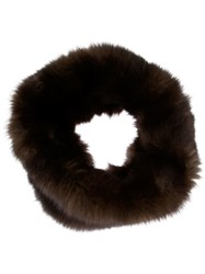 Liska Sable Fur Snood Brown