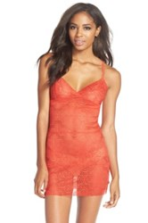 Josie Stretch Lace Chemise Red