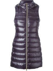 Herno Padded Gilet Pink And Purple