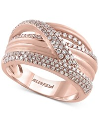 Macy's Effy Final Call Diamond Pave Weave Ring 5 8 Ct. T.W. In 14K Rose Gold