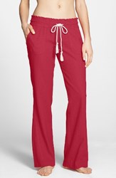 Roxy Women's 'Oceanside' Beach Pants Geranium
