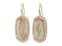 Kendra Scott Dani Earrings Rose Gold Brown Mother Of Pearl Earring