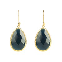 Latelita London Single Drop Earring Sapphire Hydro Gold Blue Gold
