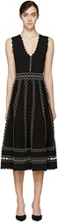 Alexander Mcqueen Black Scalloped Trim Dress