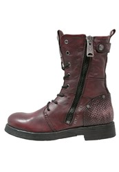 Replay Beds Laceup Boots Bordeaux Dark Red