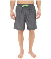 Speedo Marina Volley Swim Trunk Heather Grey Green Men's Swimwear Gray