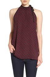 Pleione Women's Tie Neck Sleeveless Top