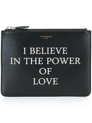 Givenchy Love Printed Clutch Black