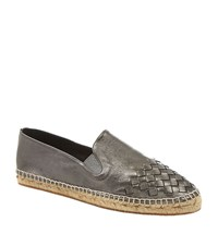Bottega Veneta Interweave Toecap Espadrille Female Pewter