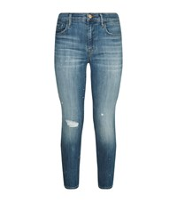 J Brand Collision Paint Splatter Jeans Female Blue