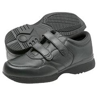 Propet Life Walker Strap Medicare Hcpcs Code A5500 Diabetic Shoe Black Men's Hook And Loop Shoes