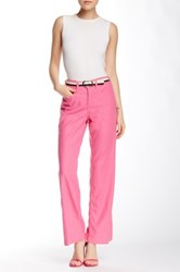 Nydj Wylie Stretch Linen Blend Trouser Petite Pink