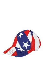 Love Moschino Stars And Stripes Cotton Gabardine Hat Red White Blue