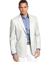 Tasso Elba Big And Tall Cotton Twill Core Blazer White